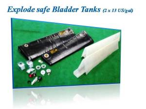 EXPLODE SAFE BLADDER TANKS