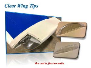 CLEAR WING TIP (TWO UNITS)